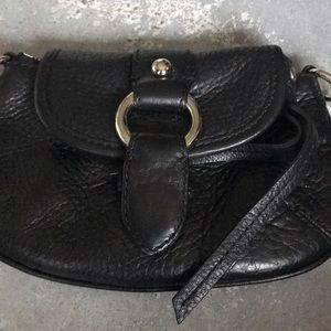 Banana Republic Black Pebble Leather Wristlet